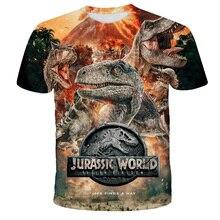 2020 Jurassic World Fallen Kingdom Cool Dinosaur Head 3D Print T shirt  Boys and girls Hiphop Tee Tshirt Boy color Clothes Drop