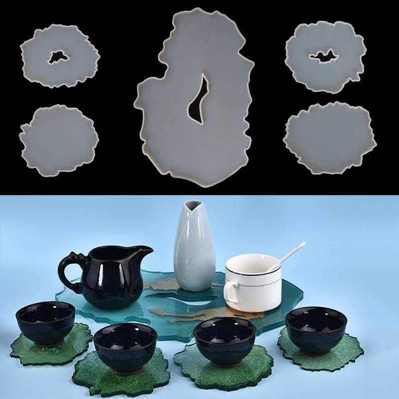 Silicone Mold Coaster-Tray Jewelry-Tools Casting Diy Epoxy Irregular-Shape Resin