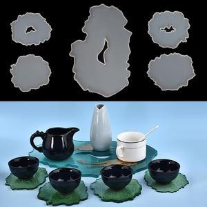 Irregular Shape Resin Coaster Tray Silicone Mold Casting Mould DIY Epoxy UV Resin Molds Jewelry Tools