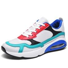 цена TOSJC Three Colors Mens Running Shoes Air Cushion men's Sport Shoes Comfortable Athletic Trainers Sneakers Outdoor Walking Shoes онлайн в 2017 году