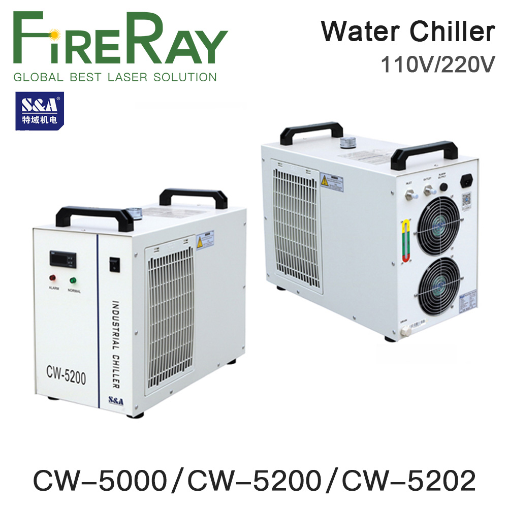 S&A CW5000 CW5200 CW5202 Industry Air Water <font><b>Chiller</b></font> For CO2 Laser Machine Cooling CNC Spindle 80W 100W 130W 150W Co2 Laser Tube image