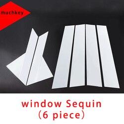 Formowanie tapicerka dla Jaguar Xf cekiny 6 sztuk Chrome Xfl okno