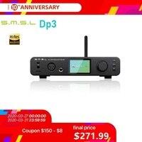 SMSL DP3 Hi Res Balanced Digital Player ES9018Q2C DAC two way Bluetooth/WIFI/ DSD Coaxial/Optical USB Decoder Amplifie AMP