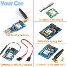Placa de Núcleo Placa de Desenvolvimento SIM800C SIM800 Quad-band GSM/GPRS Comunicação IOT Sem Fio Transceptor Sem Fio Com Bluetooth
