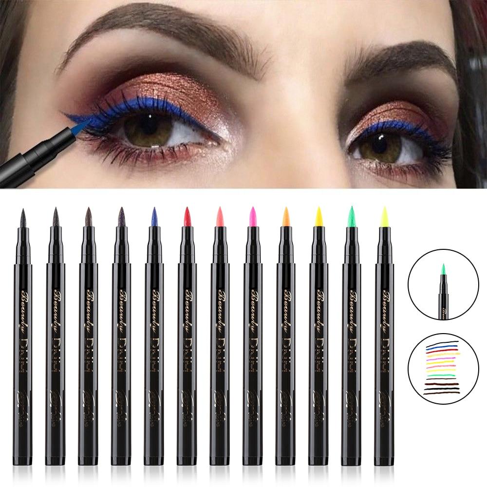1PC Cat Eye Makeup Colorful Waterproof Liquid Eyeliner Pencils Fast Dry Long Lasting Thin Head Eye Black Liner Pen Makeup Tools