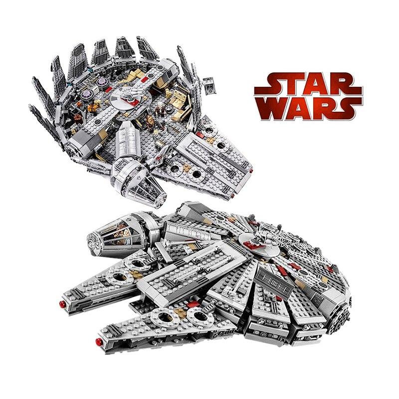 NEW Star Millennium 79211 Falcon Figures Wars Building Blocks Harmless Bricks Enlighten Fit Compatible Legoinglys Starwars Toys