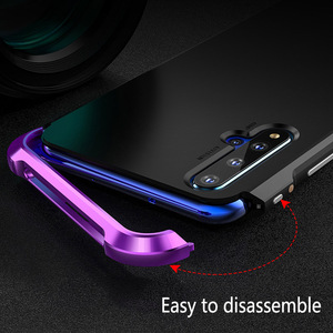 Image 5 - For Huawei P30 Pro P30 Case Hybrid Aluminum Metal Bumper Hard PC Shockproof Case for Huawei P40 P40 Pro P20 P30 Pro Cover