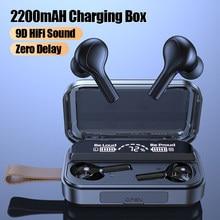 Drahtlose Kopfhörer TWS Bluetooth Kopfhörer Mit Mikrofone 2000mAh Lade Box 9D HiFi Ton Ohrhörer Sport Wasserdichte Kopfhörer