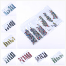 ss3-ss30 Mix size Rhinestone Crystal AB 1700pcs/lot Hotfix Rhinestones use for DIY Bags Garment Shoes Nail art
