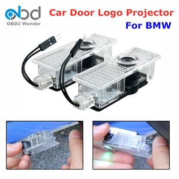 2pcs For BMW 3 5 7 Series E65 E66 F01 F02 E60 E61 F10 E90 E91 E92 E93 M3 LED Car Door Light Logo Projector Car Welcome Lights image