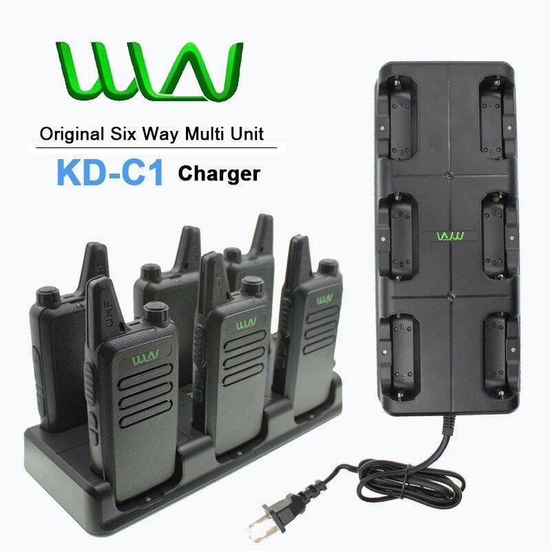 New Original WLN KD-C1 Walkie Talkie 6 In One Charger 5W UK/EU/AU For Mini Two Way Radio KD-C1 KD-C10 KD-C1 Plus Unit Charging