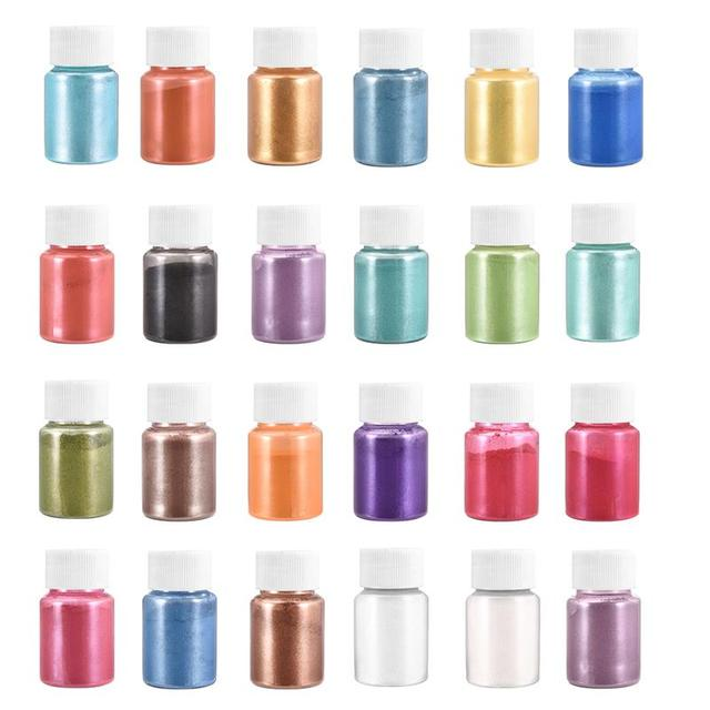 Multi Colors Mica Powder Epoxy Resin Dye Pearl Pigment Natural Mica Mineral Powder Handmade Soap Coloring Powder in Bottle 2