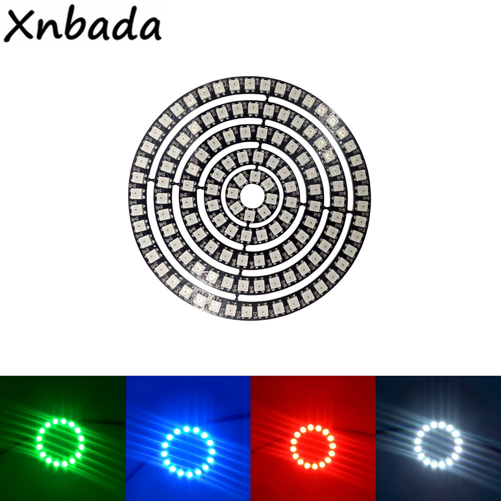 WS2812B Addressable Led Pixel Ring 1/8/16/24/35/45Leds WS2812 5050 RGB Led Diode Ring Color IC Built-in LED
