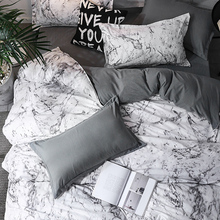 Bedding-Set Duvet-Cover-Sets Double-Sided Geometric with Pillowcase Linings Marble New-Arrival