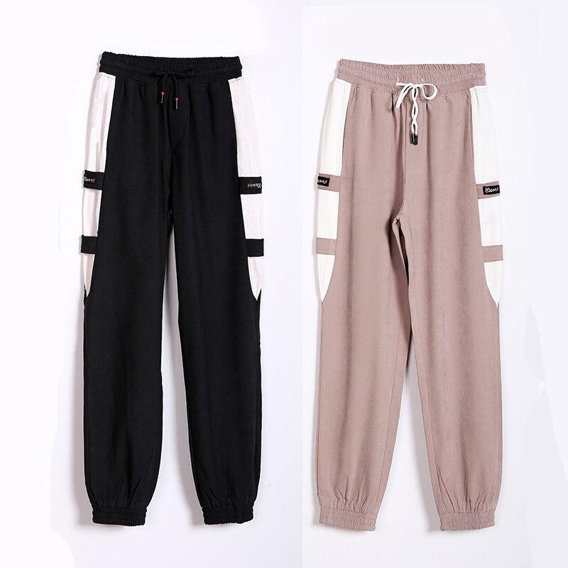LOMAIYI Women's Cargo Pants Women Spring/Summer Joggers High Waist Pants Black/Khaki Trousers Harem Pant Female SweatPants BW049