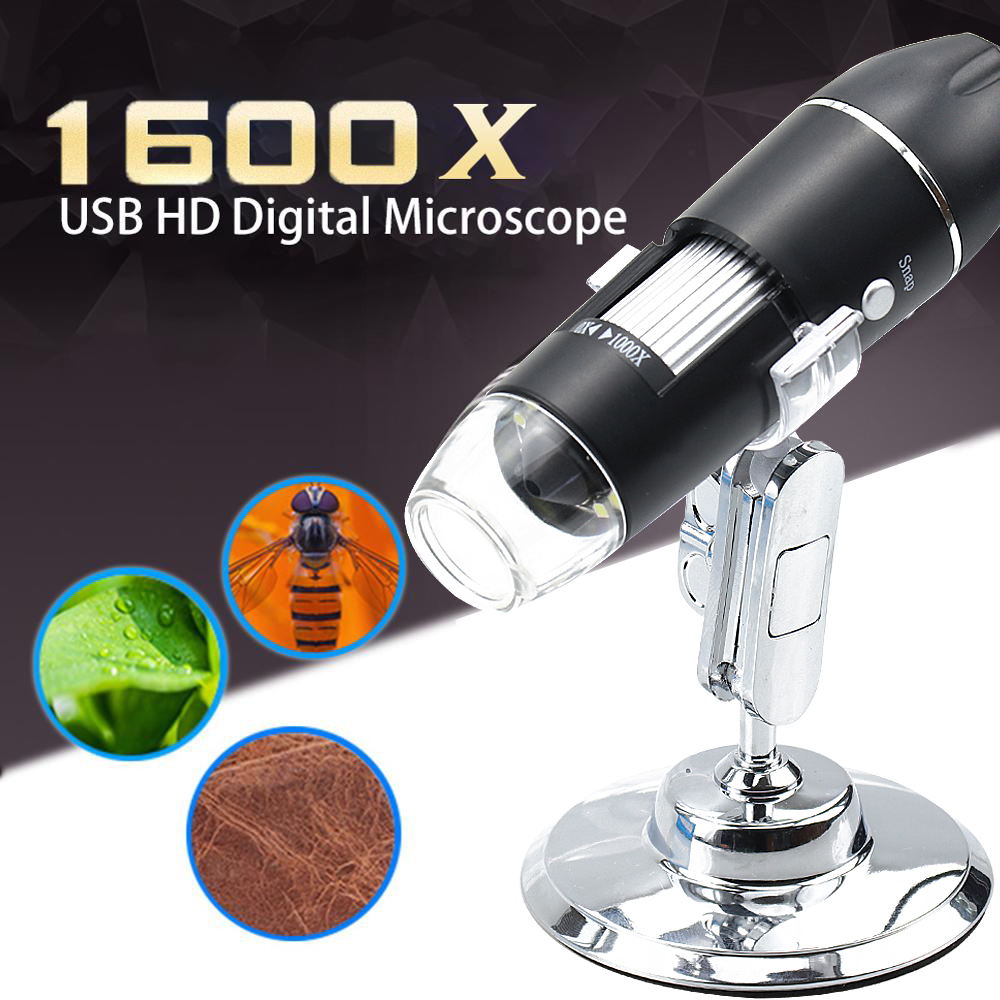 Microscope for soldering Digital Microscope Usb microscope Magnifier 500X 1000X 1600X Two Adapters Support Windows Android Phone