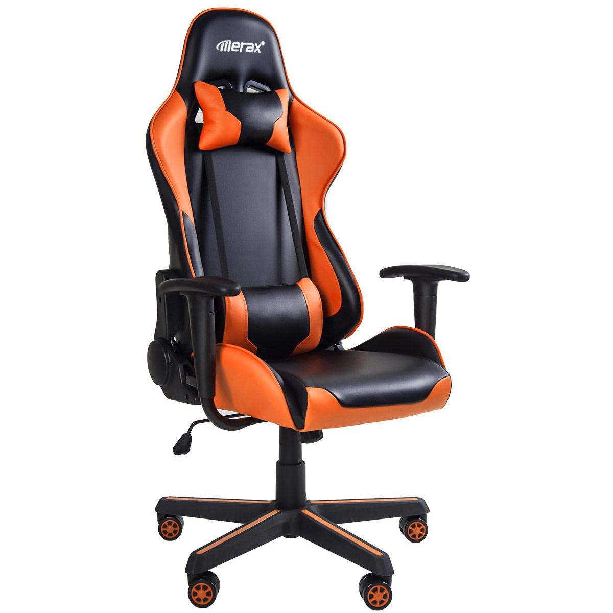 Quality Orange Office Boss Chair Ergonomic Computer Gaming Chair Internet Cafe Seat Household Reclining Chair PU Leather Chair
