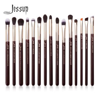 Jessup Makeup Brushes Set 15pcs Professional Eye Shadow Makeup Brush Kits Eyeshadow Eyeliner Blending Eyebrow Goat Hair 1