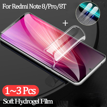 hydrogel film + camera glass for redmi 8t note8 pro screen protector redmi-note-8-t protective glass xiaomi note 8 t accessories