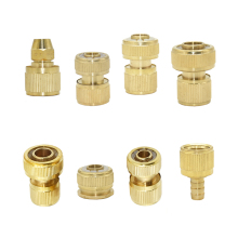 3/8 1/2 3/4 Inch Brass Hose Quick Connector 8/11 16mm 20mm 25mm Copper waterstop Connector Garden Hose Water Gun Fittings 1pcs