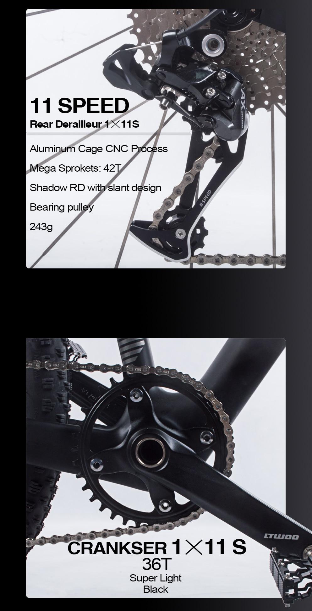 "BXT 29inch carbon fiber Mountain bike 1*11 Speed Double Disc Brake 29"" MTB Men bicycle 29er wheel S/M/L frame complete bike"
