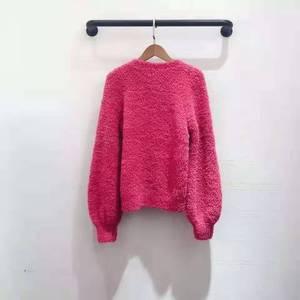 Image 4 - Женский модельный пуловер, красный, розовый, темно синий джемпер на осень и зиму, 2019