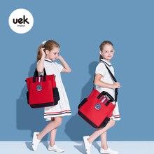 Uek Kids Tutorial Bags Study Book Childrens School Shoulder Bag Boy Girl British Style Big Capacity Fashion Tote Student Handbag