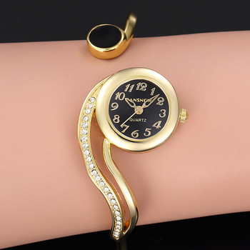 Luxury Bracelet Watch Gold Silver Dial