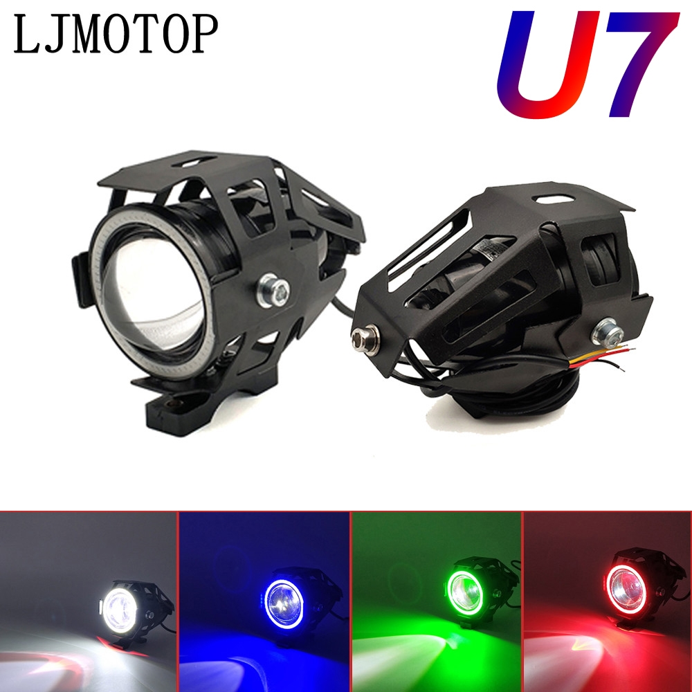 125W Motorcycle Headlight 3000LM Low Beam Flash U7 <font><b>light</b></font> LED auxiliary For <font><b>Honda</b></font> ST 1300 Black SpiRit NC750S <font><b>NC750X</b></font> CB1100 image