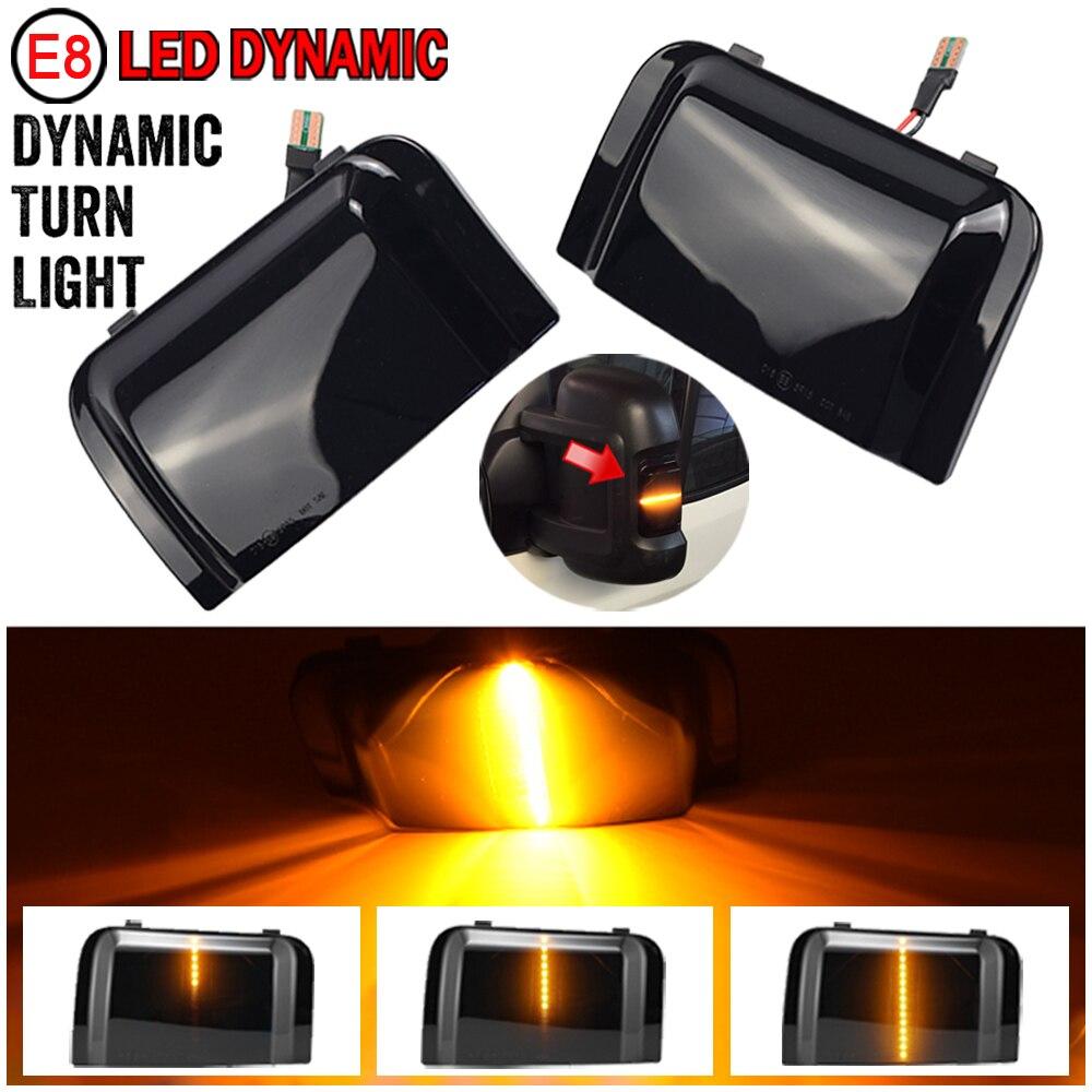 2 pçs para peugeot boxer fiat ducato citroen jumper ram carro led dinâmico transformar a luz do sinal lado espelho indicador blinker lâmpada