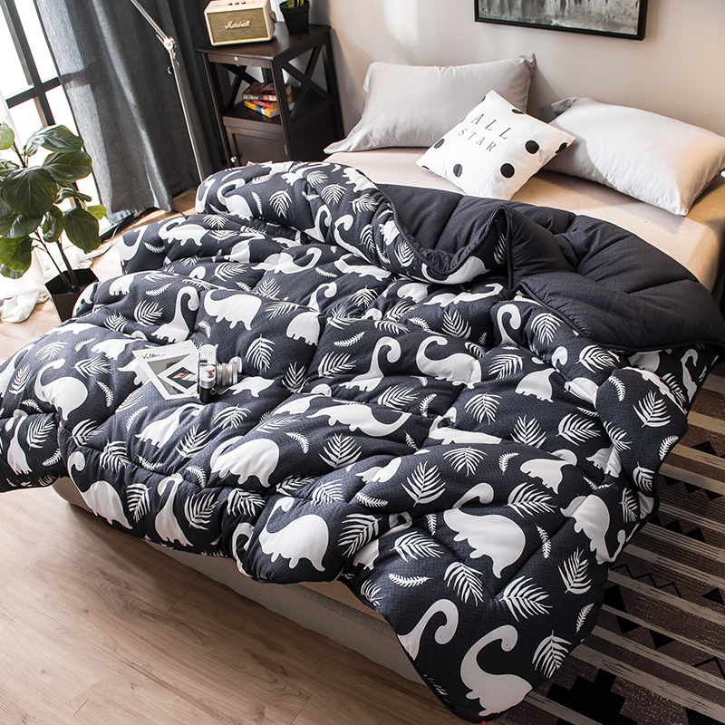 CF2 New Style Embroidered Fabric Comforter 100% Cotton Filling Quilted King Queen Full Size Quilt Hot Sales Winter Thick Blanket