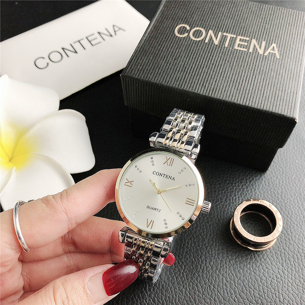 New Diamond Roman numeral alloy watch ladies watch