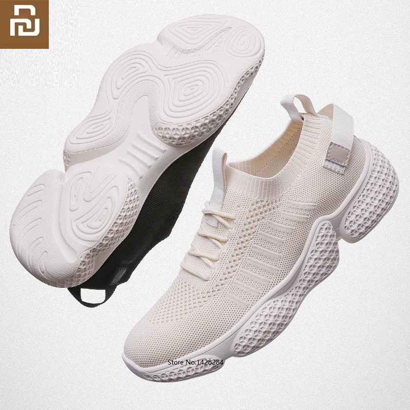 Youpin NEW Men Flying Woven Breathable Casual Shoes Slow Shock Non-slip Mesh Summer Sports Fitness Outdoor Sneakers