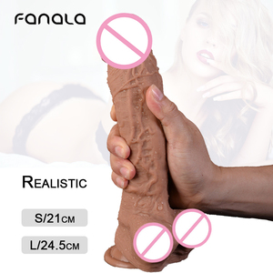 8/10 Inch Super Large Realistic Silicone Penis Dildo Sex Toy for Women Masturbator G Spot Sex Dildo with Sucker Big Dick Cock