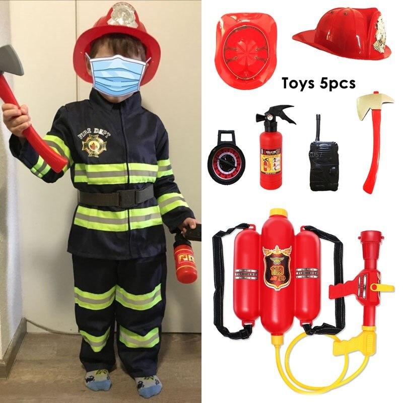 Мальчики пожарный Косплей Карнавал вечерние НКА Хэллоуин школьное выступление Униформа рабочие места ролевые игры пожарный маскарадные и...