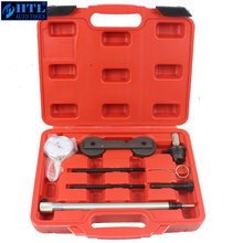 Engine Timing Tool Kit For VW AUDI 1.4 1.6 FSI Inclding Dial Gauge Timing Locking Tool auto engine camshaft locking alignment timing tool car repair garage tools kit for vw audi vag 2 4 3 2 fsi v6 v8 v10 at2070