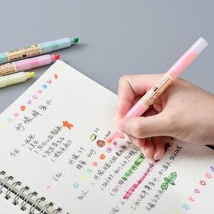 Image 5 - 40 قطعة/الوحدة ماتي نمط اللون قلم تحديد أقلام الفلورسنت تسليط الضوء على رسم بقعة بطانة بالجملة مكتب المدرسة F129