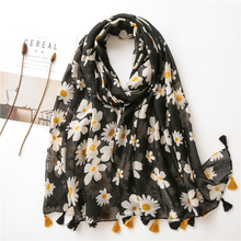 2020 New Women cotton Scarf flower print Hijab soft Shawls and Wraps Tessale Fem