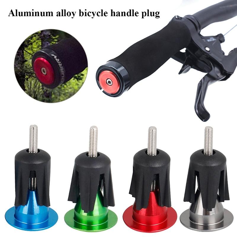1 pair Aluminum alloy Bike Grips Bar End Caps Plug Road Handle For MTB Bike M1B4