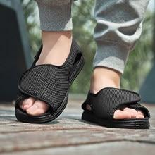 Zapatos cómodos para diabéticos, sandalias de verano para personas de mediana edad y mayores, para la diabetes