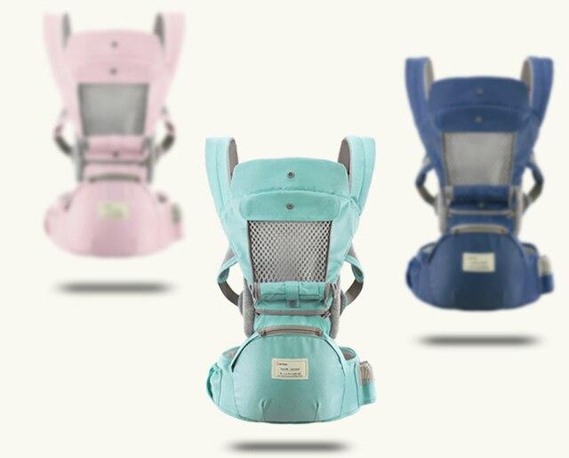 Mochila portabebés transpirable y ergonómico, portabebés portátil, portabebés, canguro, asiento para bebés, envoltura portabebés