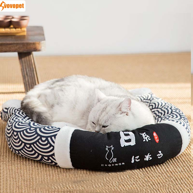 Pet dog cat warm bed House round Cotton soft Winter Cat Bed Puppy Kennel Cozy Sleeping Mat For Small Dogs Cats Nest