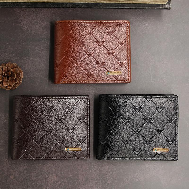 Men's Leather Wallet Brand Casual Slim Coin Portomonee 2020 Men Wallet Photo Cash Wallet Credit Card Holder