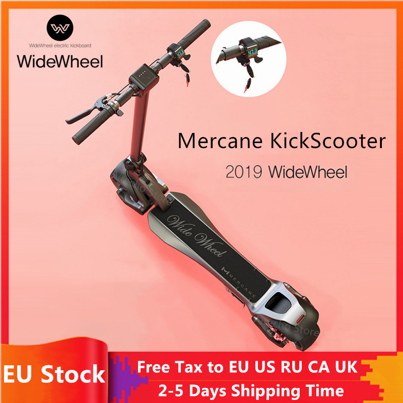 EU Stock 2019 Newest 500W / 1000W Mercane WideWheel Smart Electric Scooter Foldable Wide Wheel Kickscooter Dual Motor Skateboard