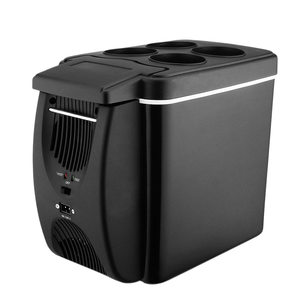Mini Fridge Refrigerator-Warmer Portable Camping Car 45W 12V 6L for Home 2-In-1 Less-Noise title=