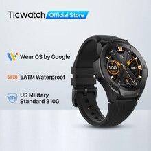 TicWatch S2 (משופץ) ללבוש OS על ידי Google Smartwatch Bluetooth GPS ספורט שעונים לגברים 5ATM עמיד למים עבור IOS ואנדרואיד