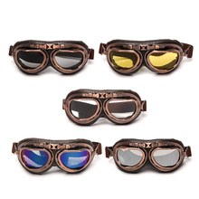 Triclicks Motorcycle Windproof Glasses Vintage motocross Goggles Color Goggle For Harley WIth Oculos Para Motociclista
