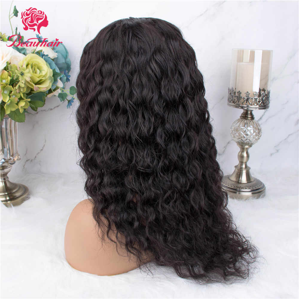 Beauhair brasileño 1 pieza 12-16Kinky rizado Cola de Caballo clip ins cordón Cola de Caballo extensiones de cabello humano para mujeres no Remy cabello