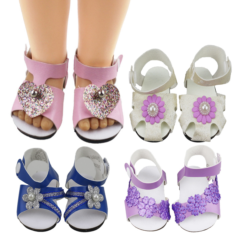 18-inch Doll Shoes-My Little Baby Accessories fit 18''/43-46cm life/generation doll-cute Toys Sandals for Girls best Gifts 107(China)