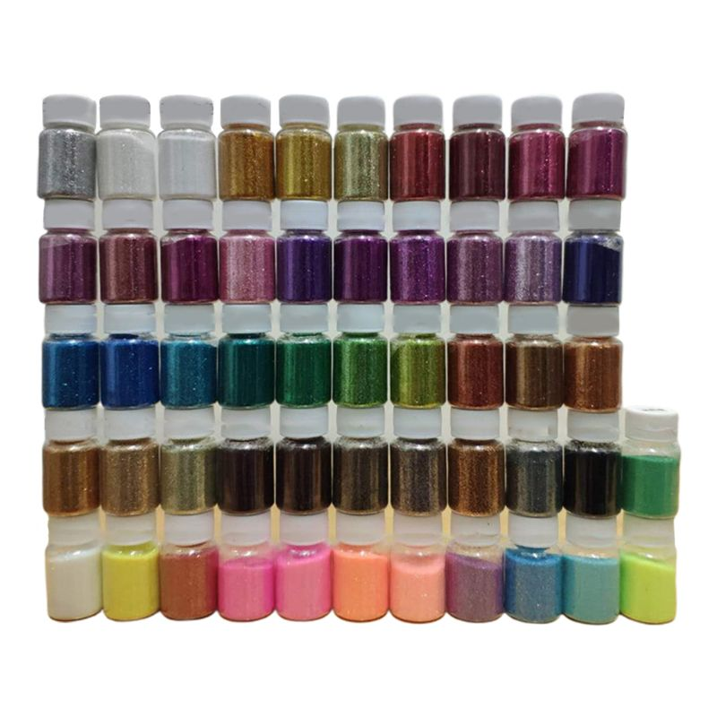 52 Pcs/set 52 Color Shiny Sequins Glitter DIY Epoxy Resin Filling Materials Crafts Jewelry Art Making Filler Accessories